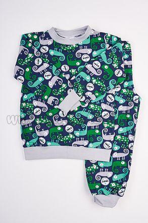 Skladom Detské pyžamo Chameleon zelená