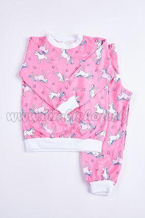 Skladom Detské pyžamo Jednorožec ružová/biela