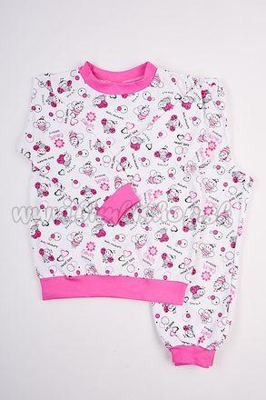 Skladom Detské pyžamo Lienka biela/ružová