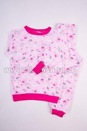 Skladom Detské pyžamo Veľryba ružová