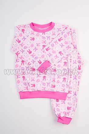 Skladom Detské pyžamo Zajko ružová/ružová
