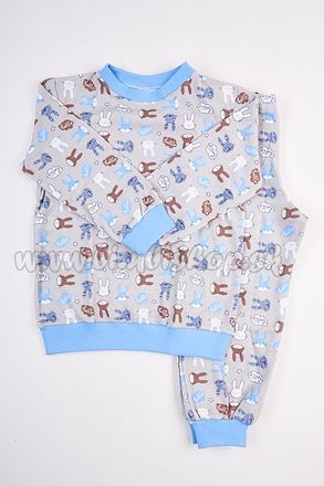 Skladom Detské pyžamo Zajko šedá/modrá
