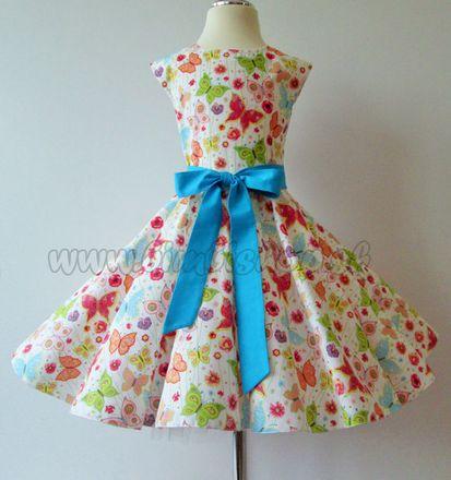 Skladom Detské RETRO šaty Motýlik 104-116