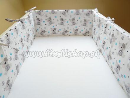 Skladom Handmade mantinel okolo celej postieľky 360x30cm - č.10