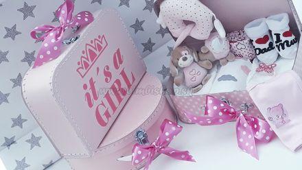 Skladom Plienková torta kufrík Girl ružová