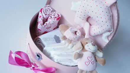 Skladom Plienková torta Lux kufrík ružová