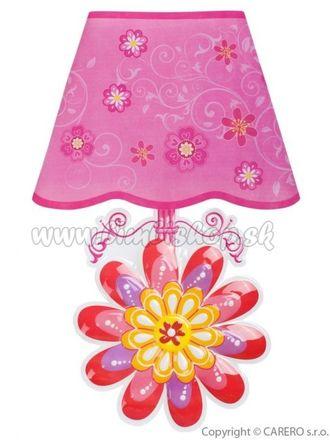 Svietiaca samolepiaca LED lampička Bayo kvetinka ružová