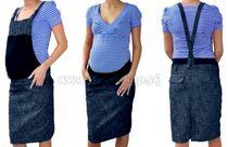 86ac709c4edb Tehotenské šaty   sukne s trakmi - granátový melírek S