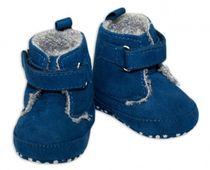 22e629b5a76c Zimné capačky botičky YO! - tm. modré