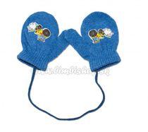 1b53b277e8a1 Zimné dojčenske rukavičky vlnené - so šnúrkou a potlačou YO - jeans