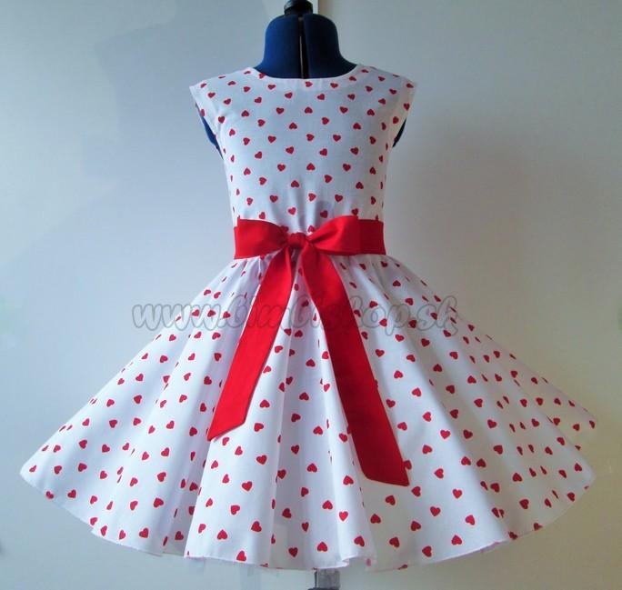611173cf7738 Skladom RETRO šaty pre dievčatá Srdiečka biele mini 104-116 - Detské ...