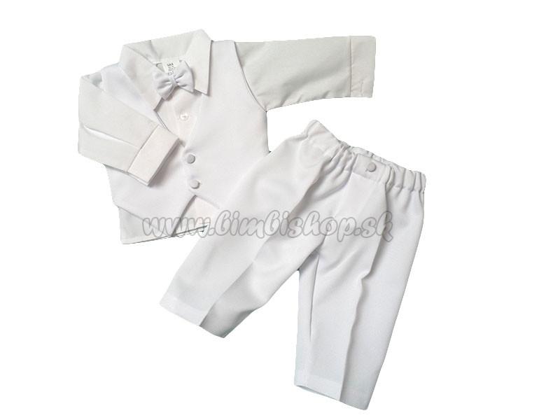 3de4dd48a8b4 Slávnostné oblečenie pre chlapčeka dlhý rukáv s vestou biela