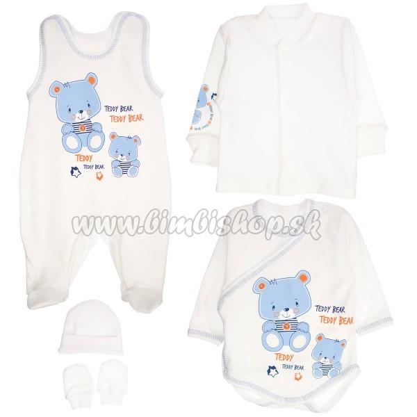 1aa4b07c8001 Súpravička do pôrodnice 5D vel. 62 - medvedíky Teddy - modrá ...