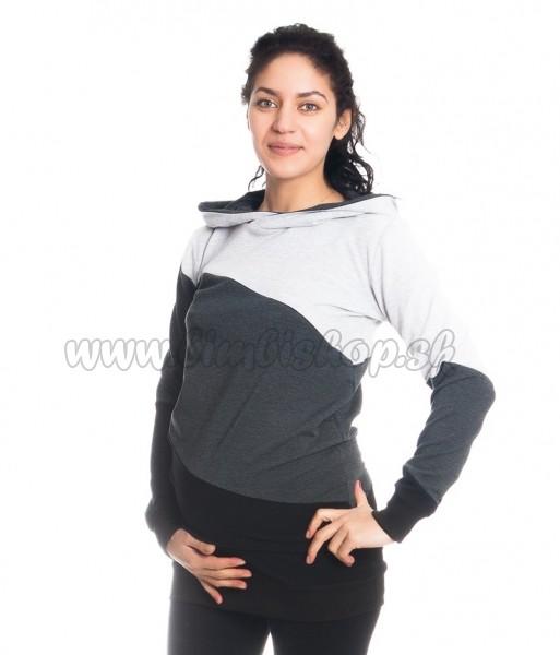 Tehotenské a dojčiace triko mikina Tiffany s kapucňou  fc423d849f2