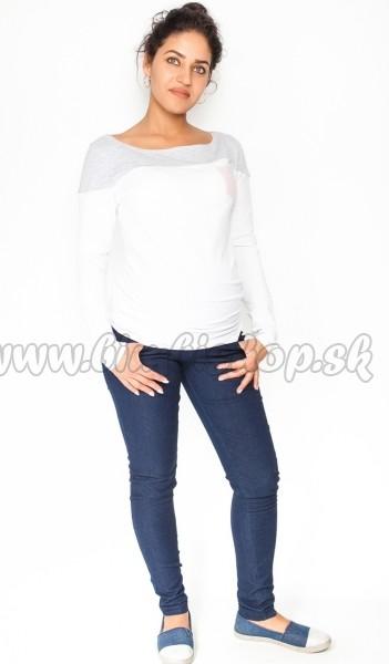 aff72631cc Tehotenské nohavice   jeans Rosa - granátové