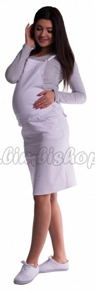 6f0cdb6534ca Tehotenské šaty   sukne s trakmi - bíele XL - Detské oblečenie ...