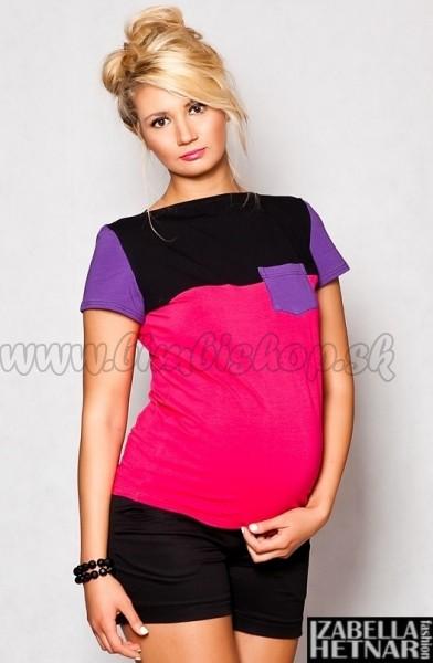 6b8271b94306 Tehotenské tričko   blúzka ANNA - ružová
