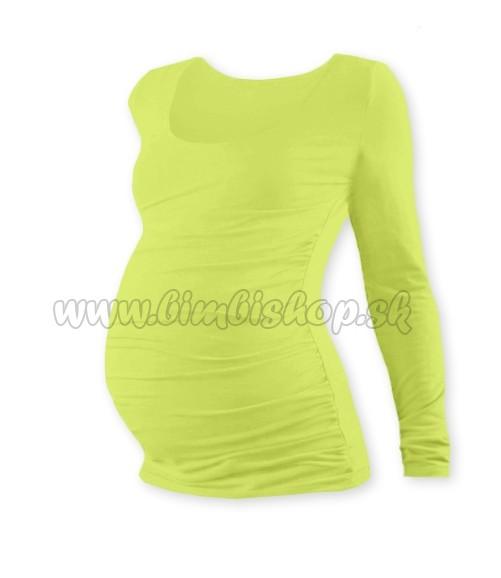 3262effdd72d Tehotenské tričko JOHANKA s dlhým rukávom - sv. zelená